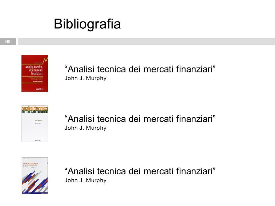 Bibliografia Analisi tecnica dei mercati finanziari John J. Murphy