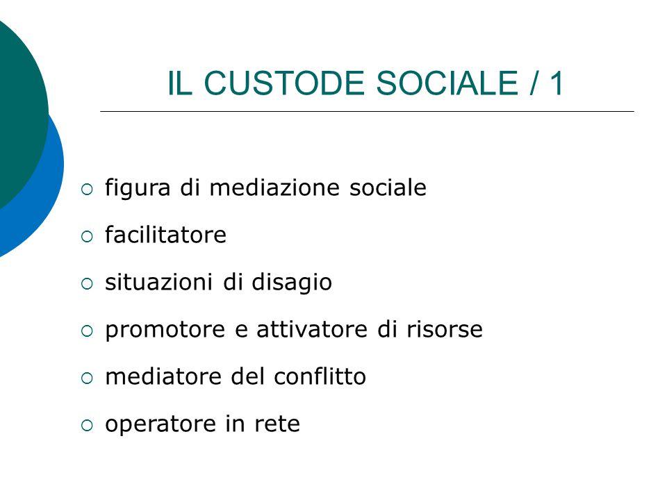 IL CUSTODE SOCIALE / 1 figura di mediazione sociale facilitatore