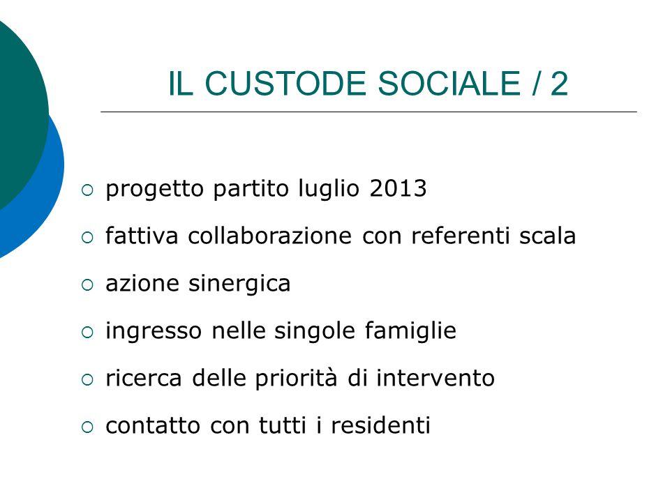 IL CUSTODE SOCIALE / 2 progetto partito luglio 2013