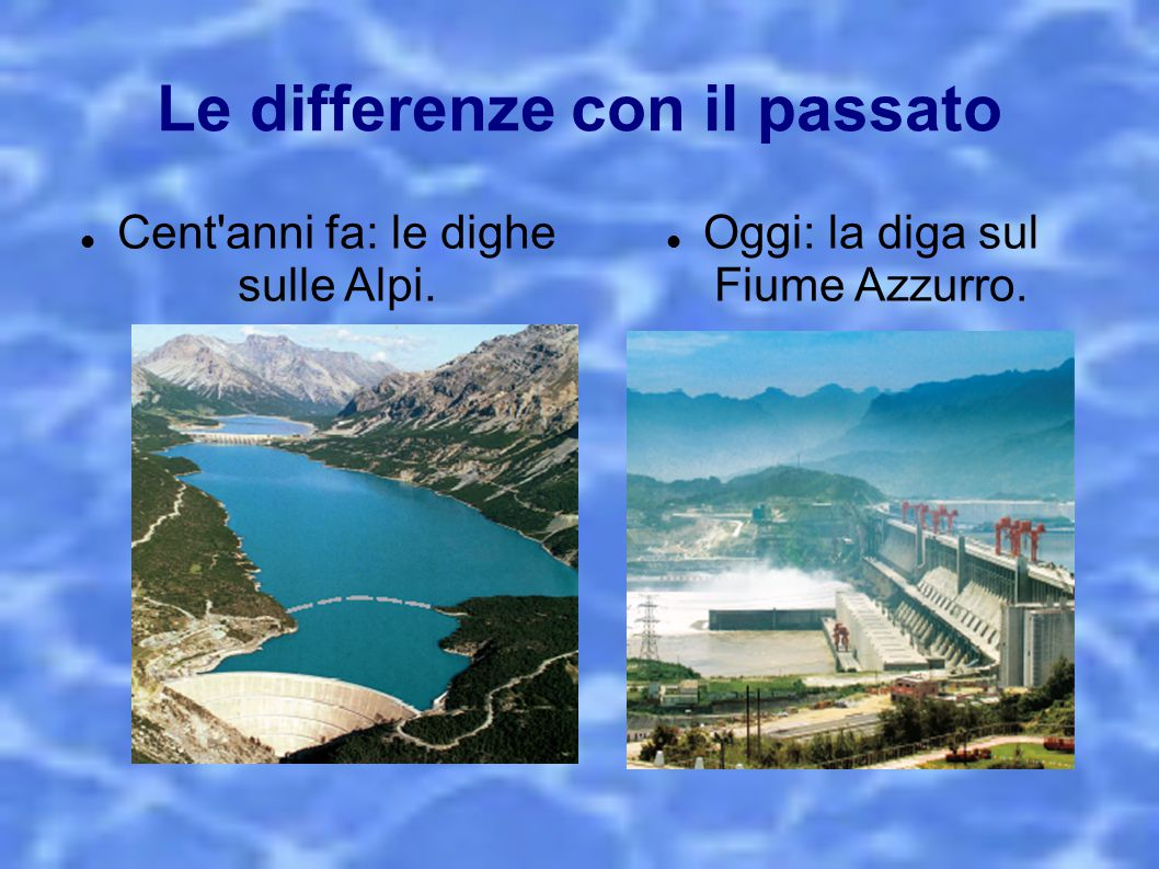 Le differenze con il passato