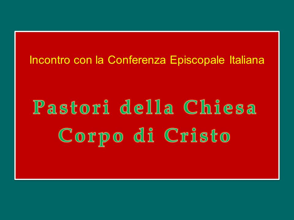 Incontro con la Conferenza Episcopale Italiana
