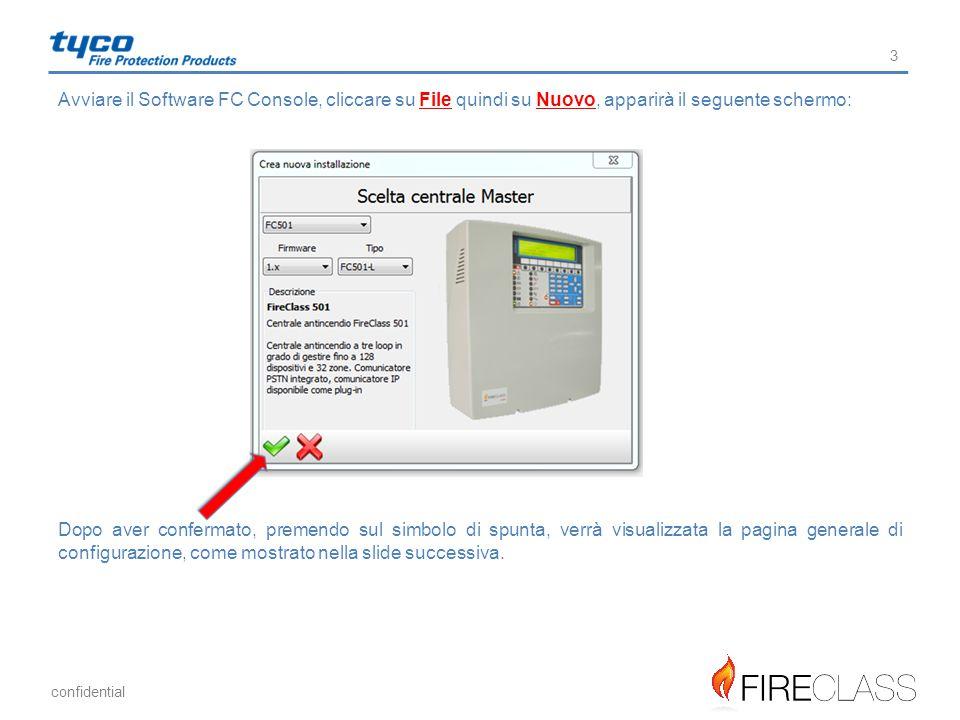 Avviare il Software FC Console, cliccare su File quindi su Nuovo, apparirà il seguente schermo: