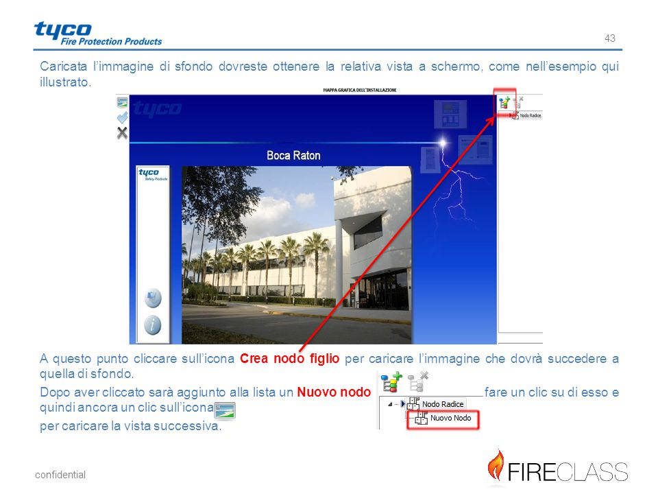 Caricata l'immagine di sfondo dovreste ottenere la relativa vista a schermo, come nell'esempio qui illustrato.