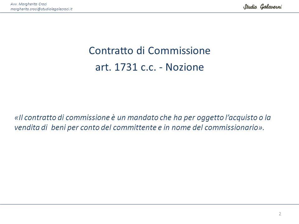 Contratto di Commissione