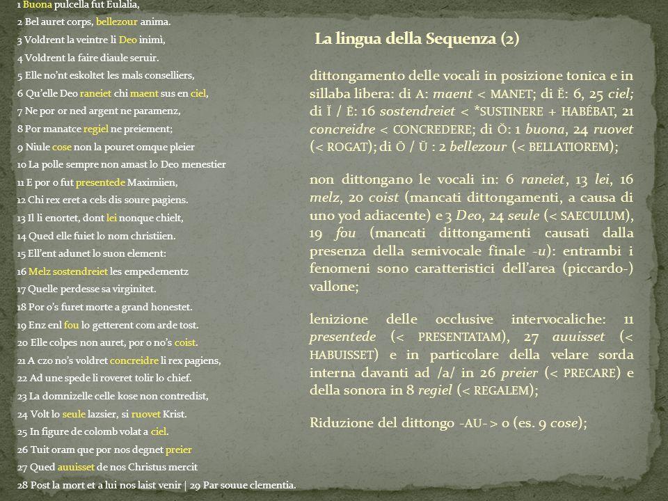 La lingua della Sequenza (2)