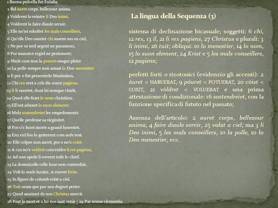 La lingua della Sequenza (3)