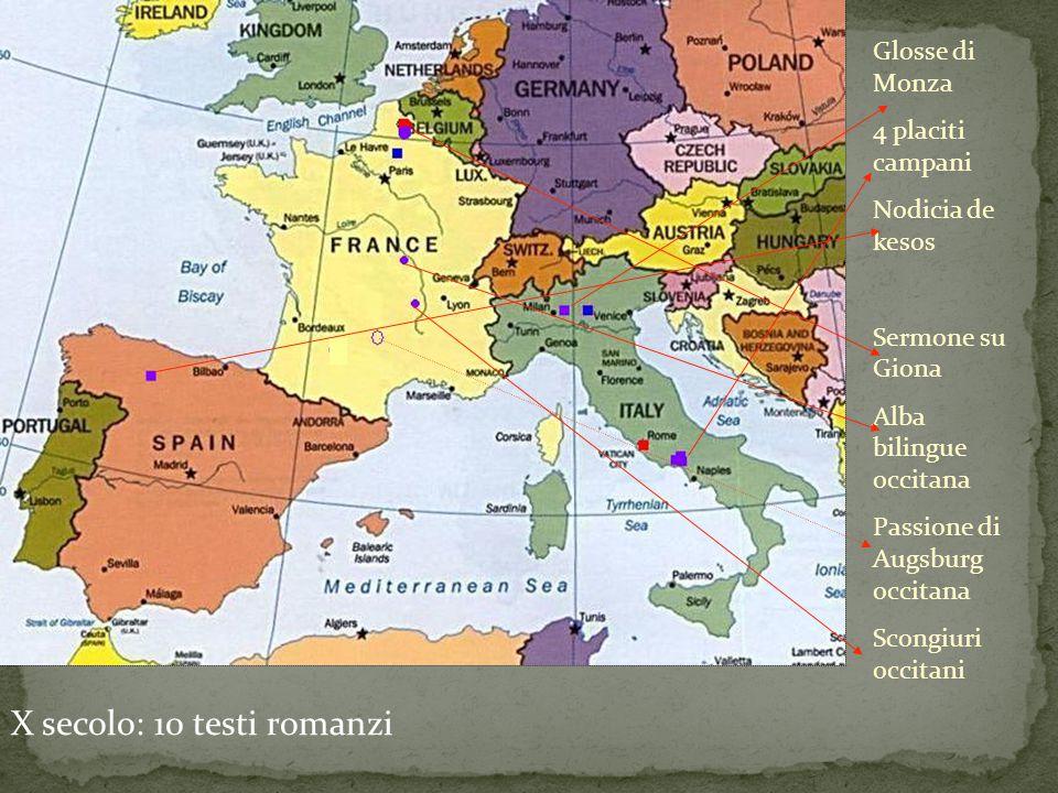 X secolo: 10 testi romanzi