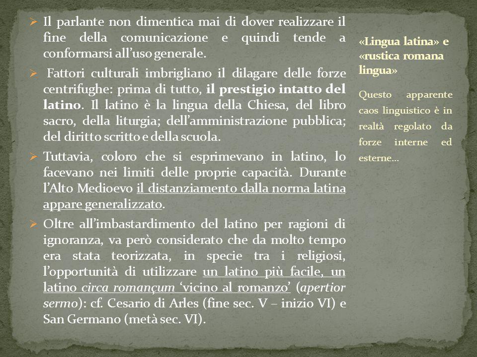 «Lingua latina» e «rustica romana lingua»
