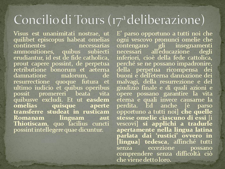 Concilio di Tours (17a deliberazione)