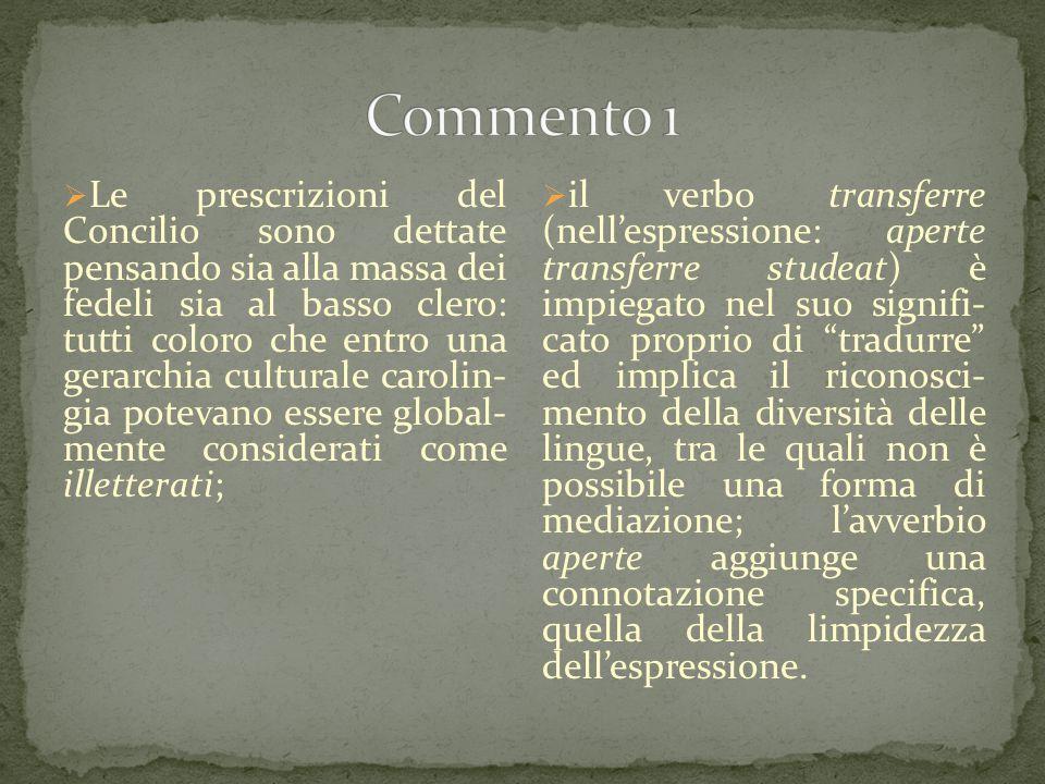 Commento 1