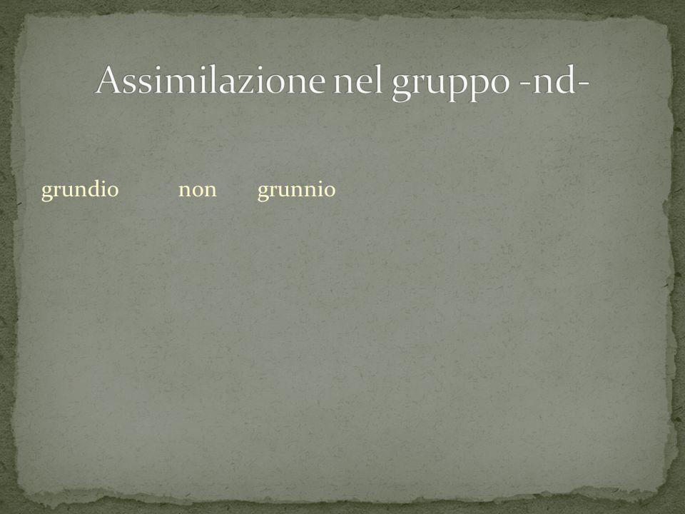 Assimilazione nel gruppo -nd-