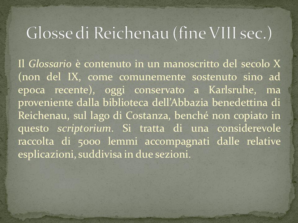Glosse di Reichenau (fine VIII sec.)