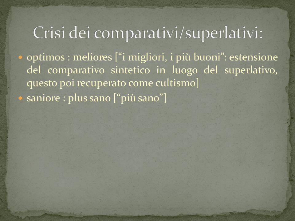 Crisi dei comparativi/superlativi: