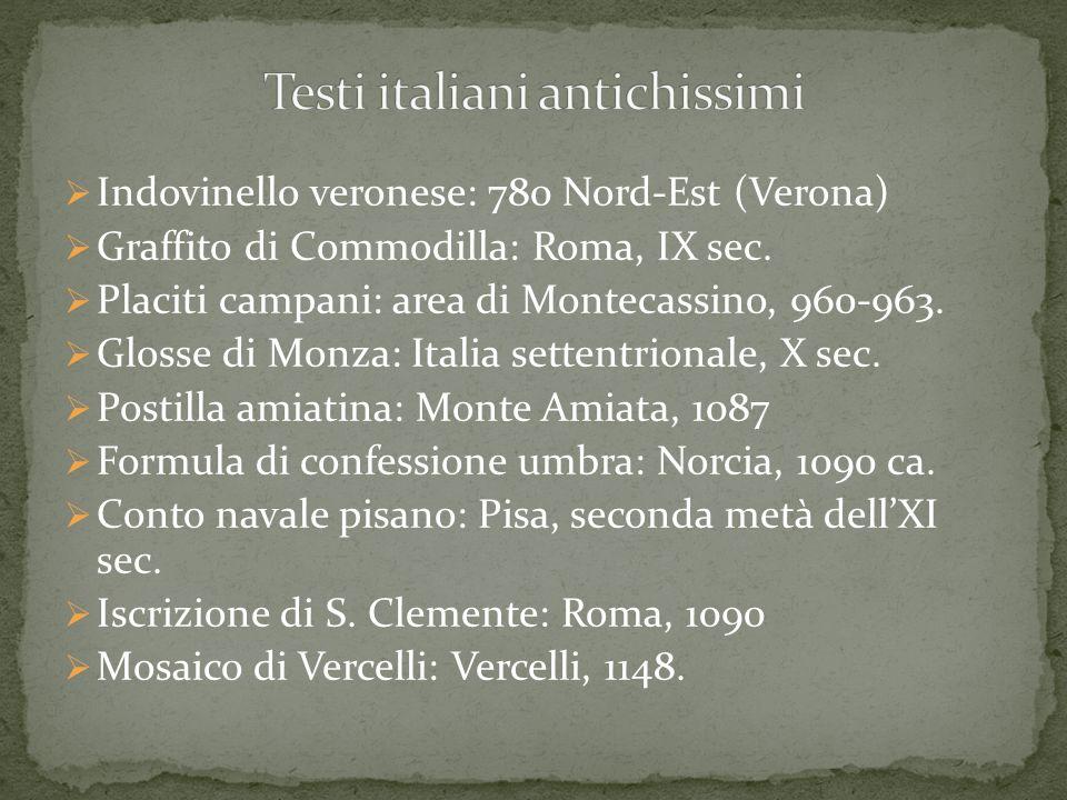 Testi italiani antichissimi