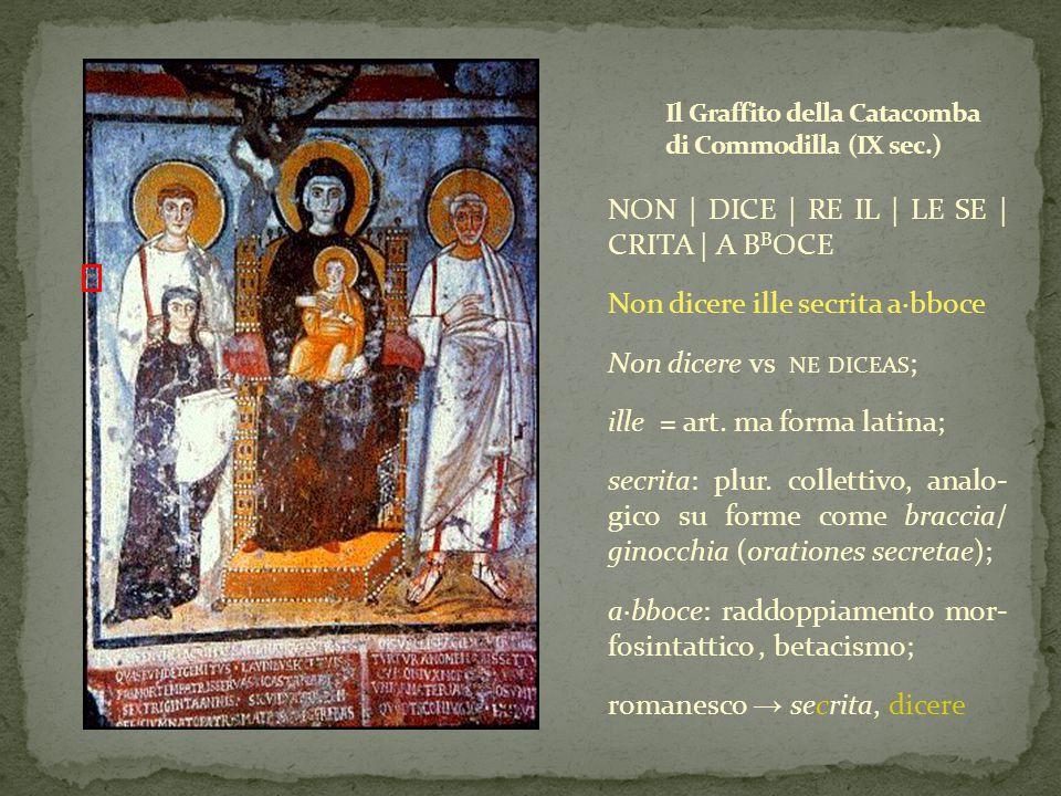Il Graffito della Catacomba di Commodilla (IX sec.)