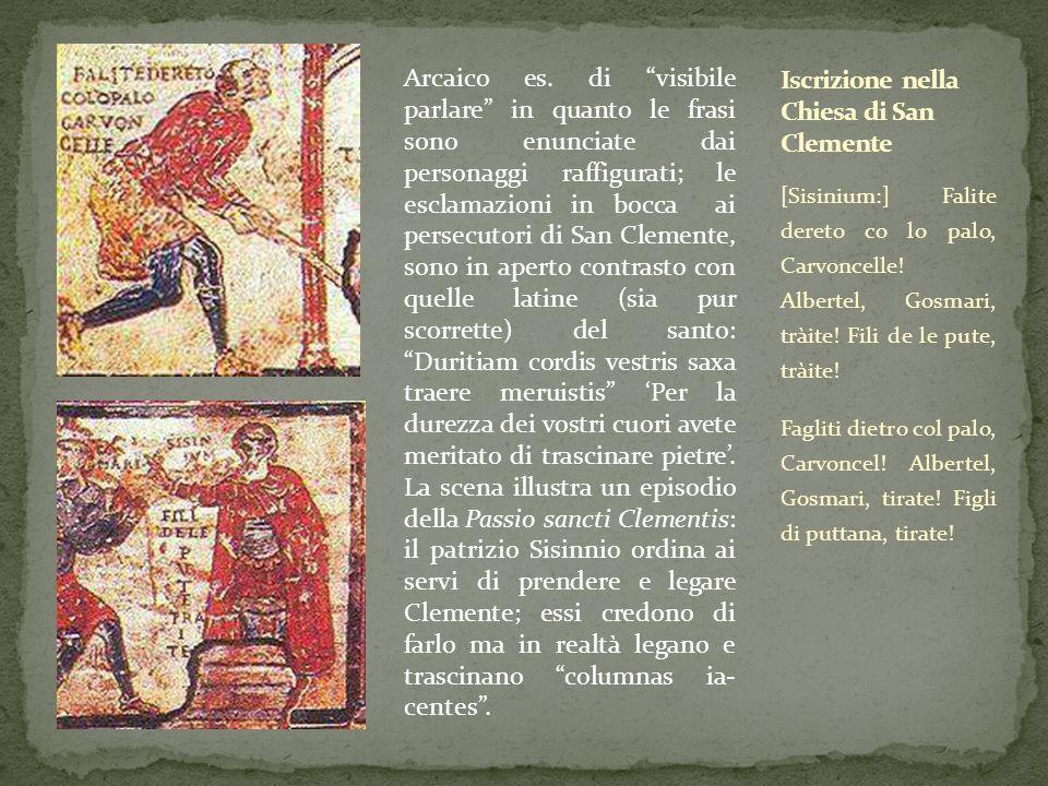 Iscrizione nella Chiesa di San Clemente