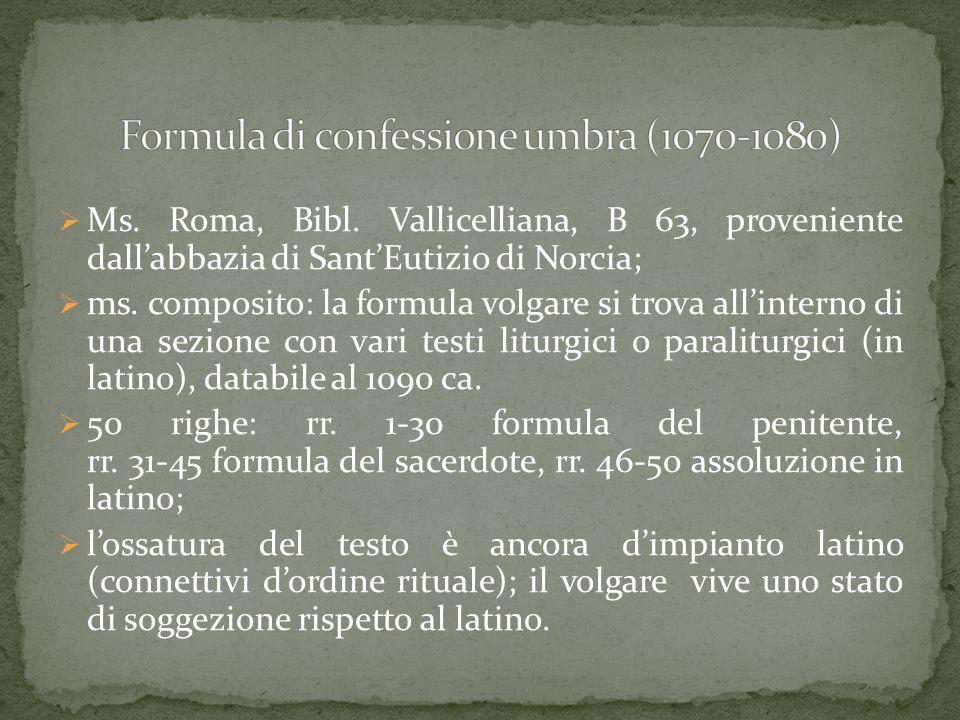 Formula di confessione umbra (1070-1080)