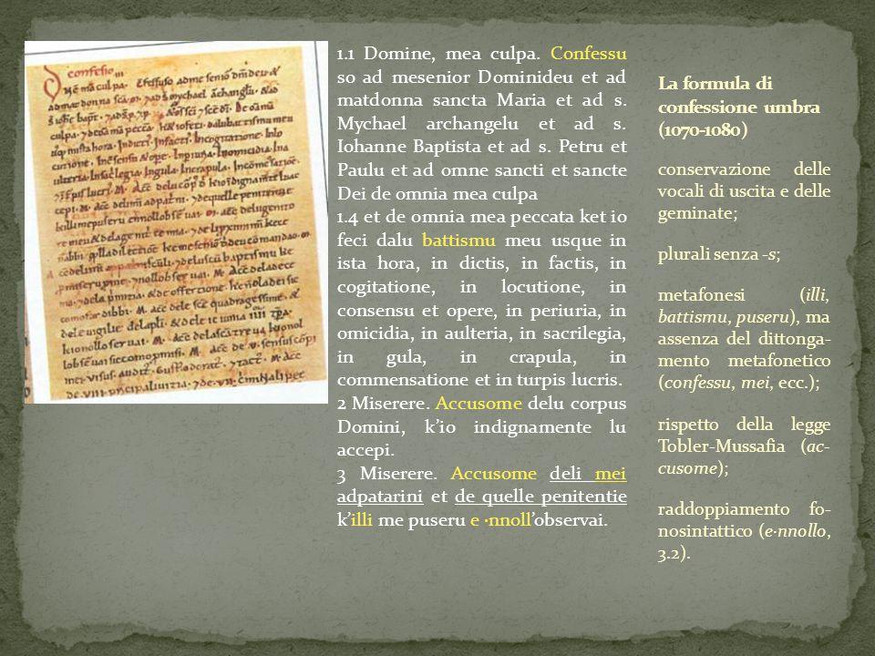 La formula di confessione umbra (1070-1080)