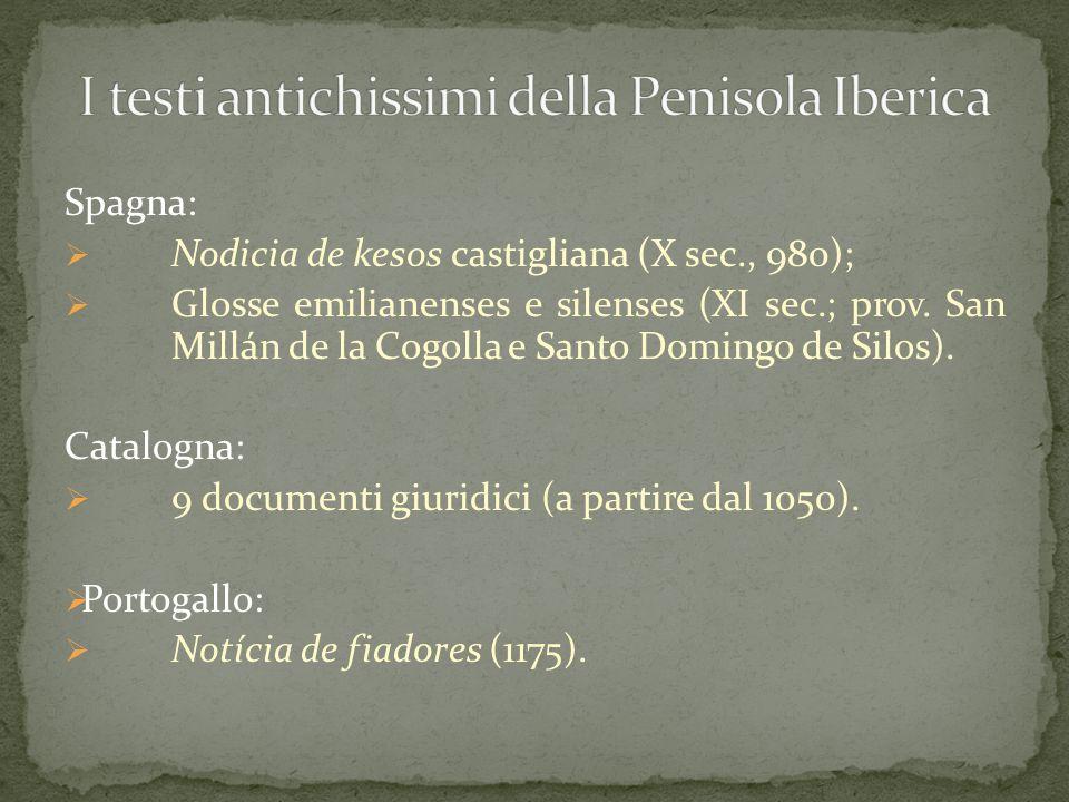 I testi antichissimi della Penisola Iberica