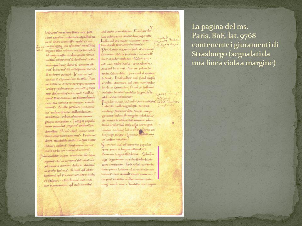 La pagina del ms. Paris, BnF, lat