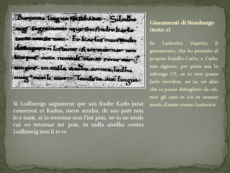 Giuramenti di Strasburgo (testo 2)