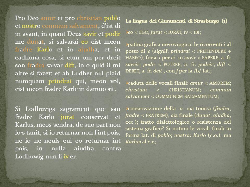 La lingua dei Giuramenti di Strasburgo (1)