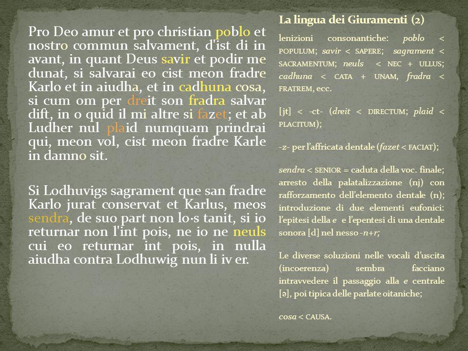 La lingua dei Giuramenti (2)