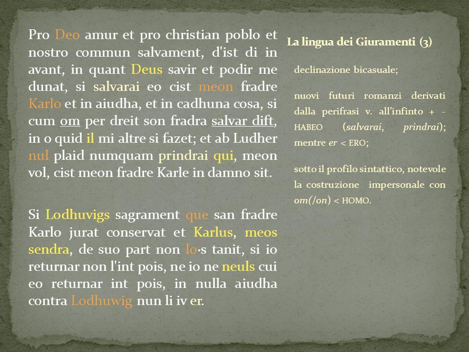 La lingua dei Giuramenti (3)