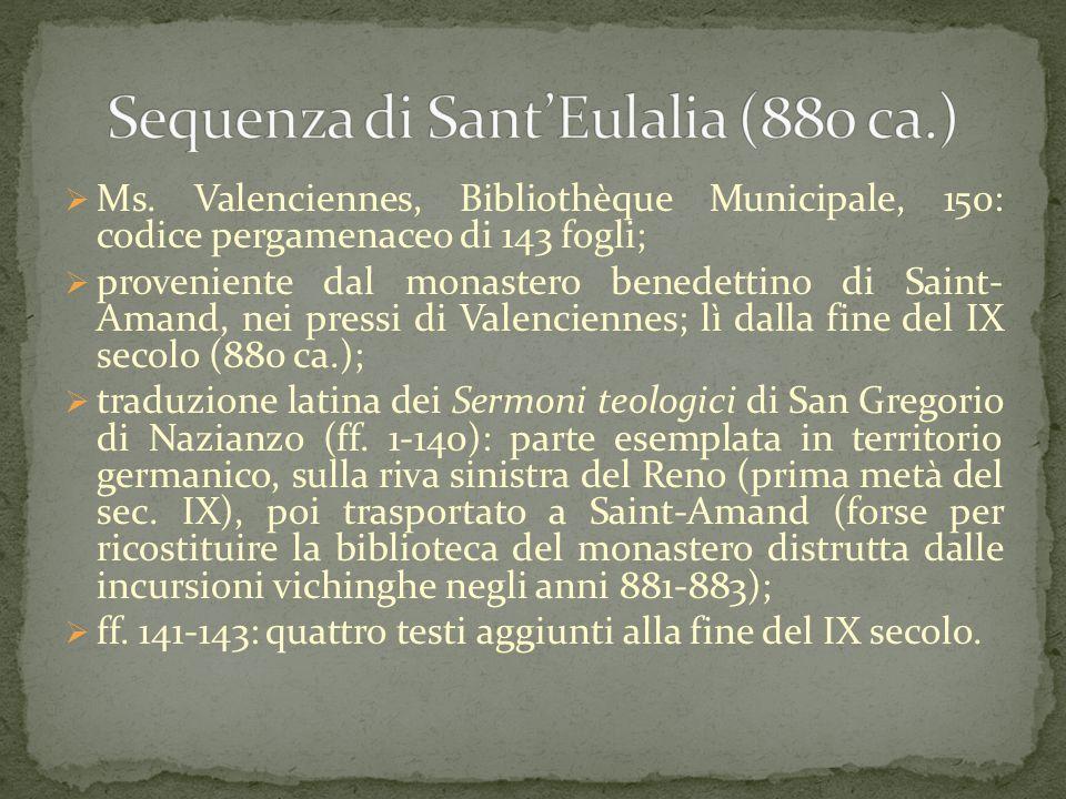 Sequenza di Sant'Eulalia (880 ca.)