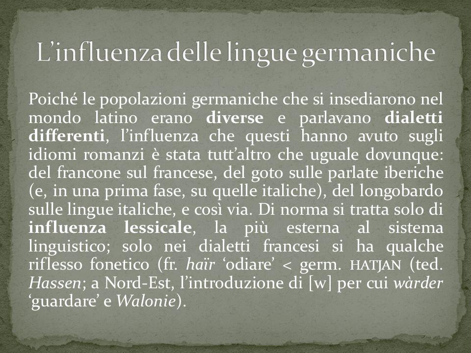 L'influenza delle lingue germaniche