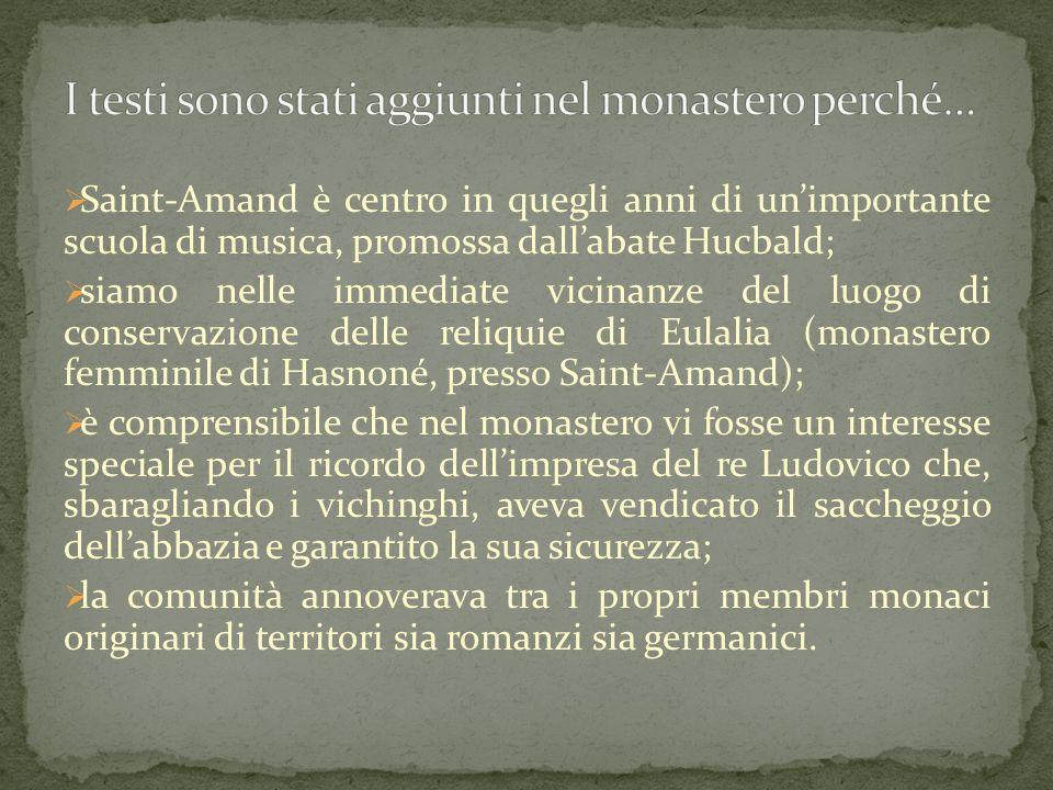 I testi sono stati aggiunti nel monastero perché…