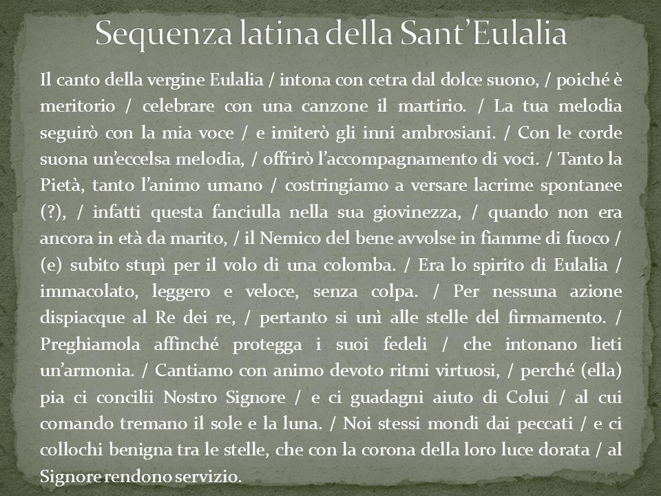 Sequenza latina della Sant'Eulalia