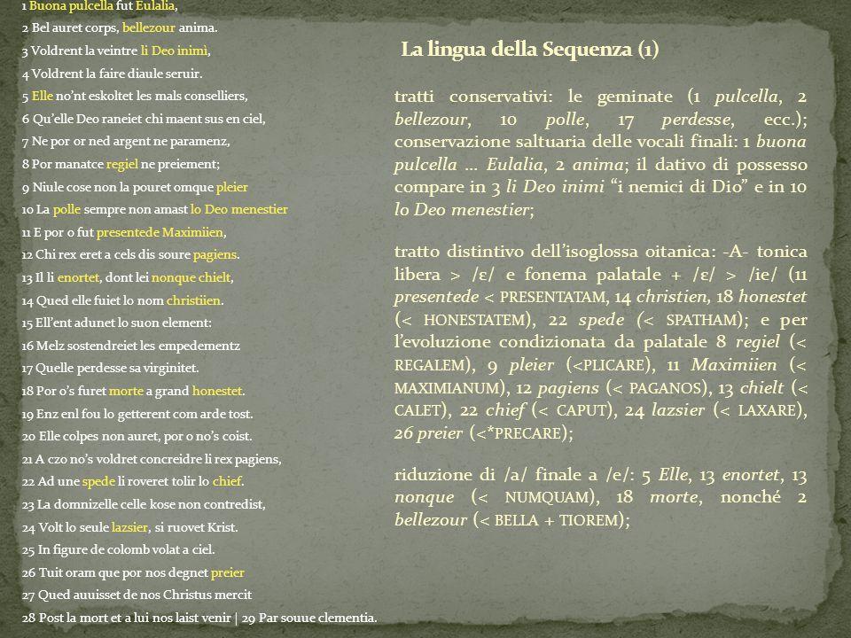 La lingua della Sequenza (1)