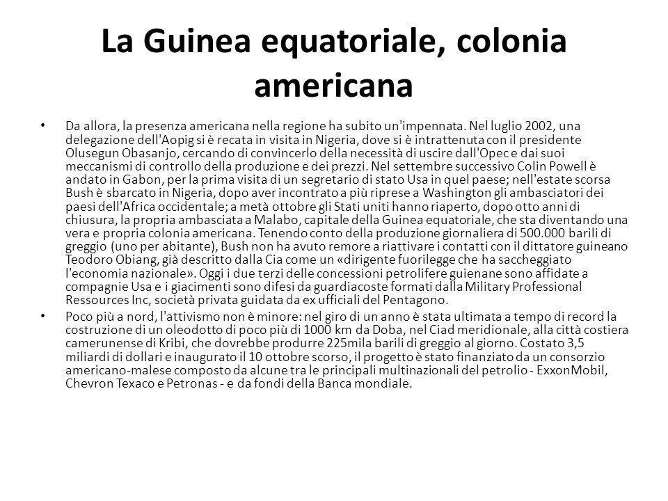 La Guinea equatoriale, colonia americana