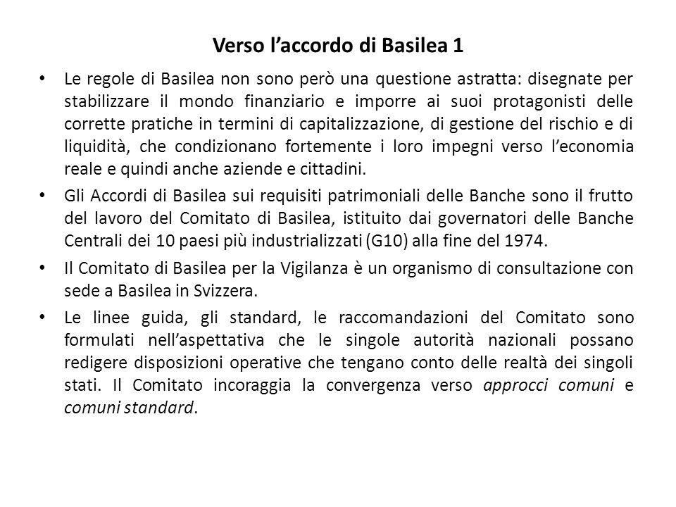 Verso l'accordo di Basilea 1