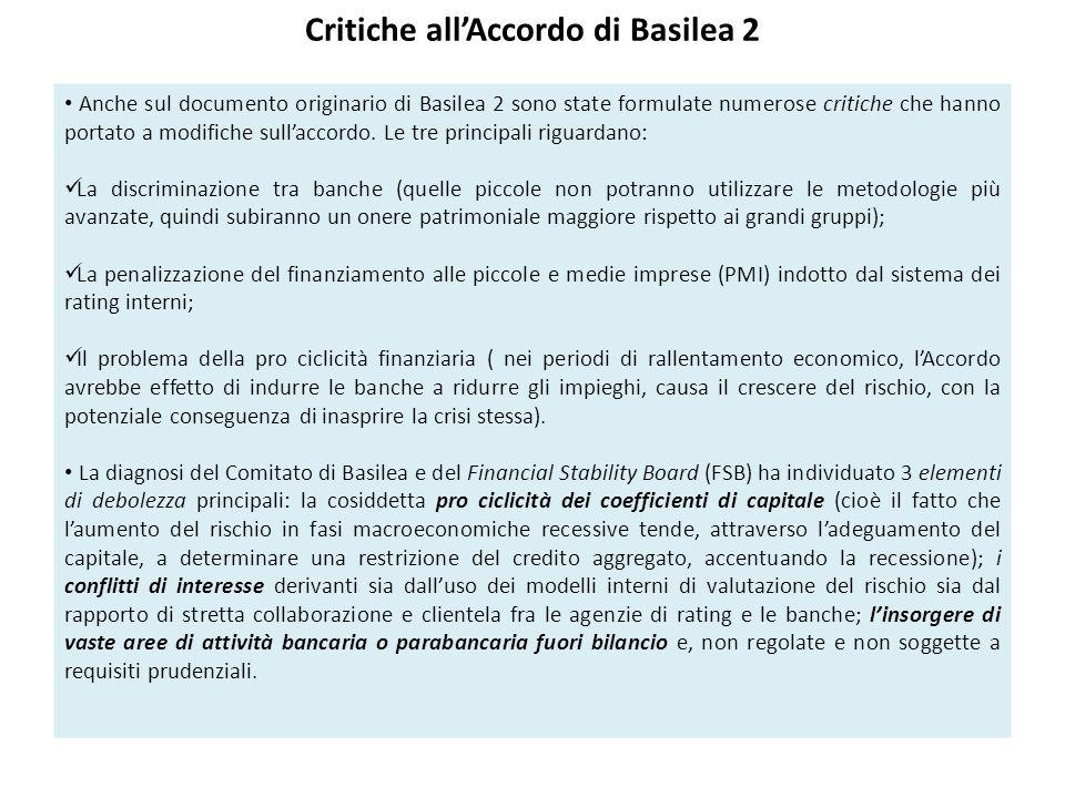 Critiche all'Accordo di Basilea 2