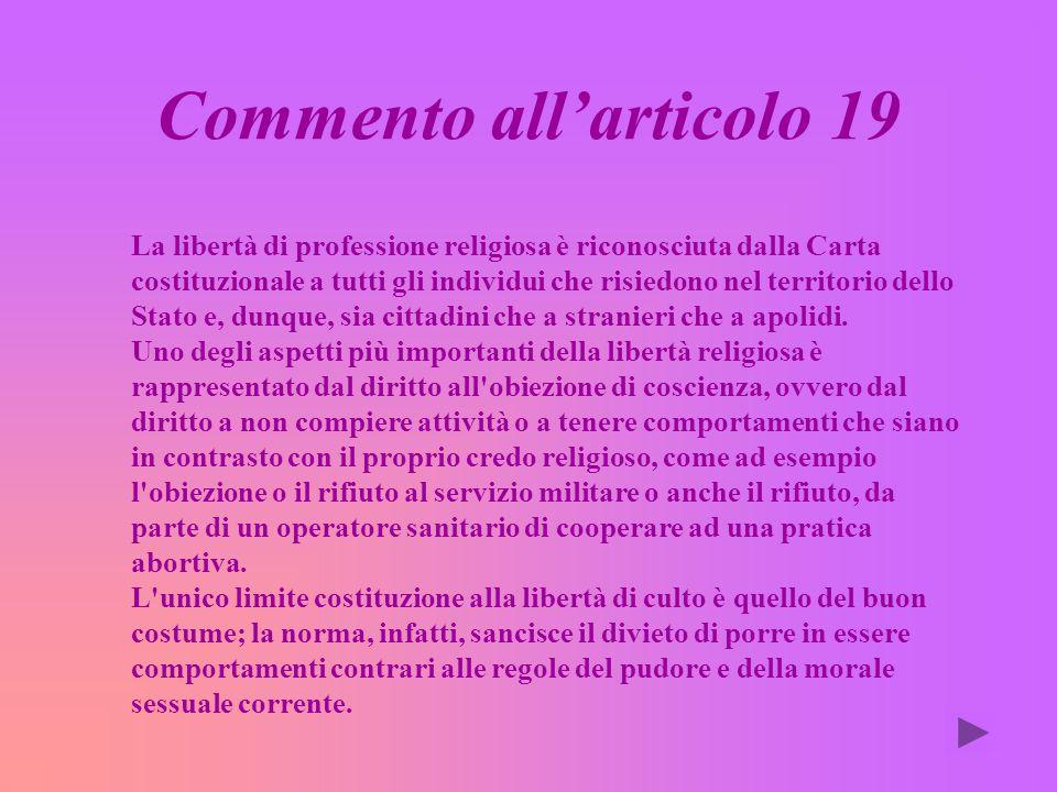 Commento all'articolo 19