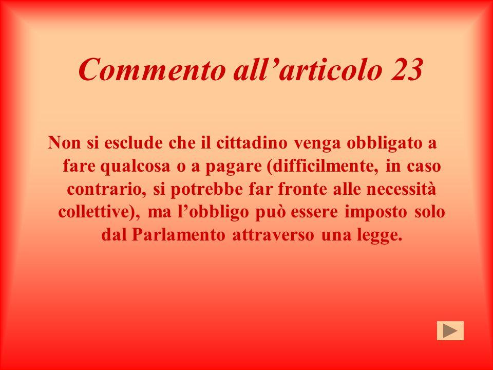 Commento all'articolo 23