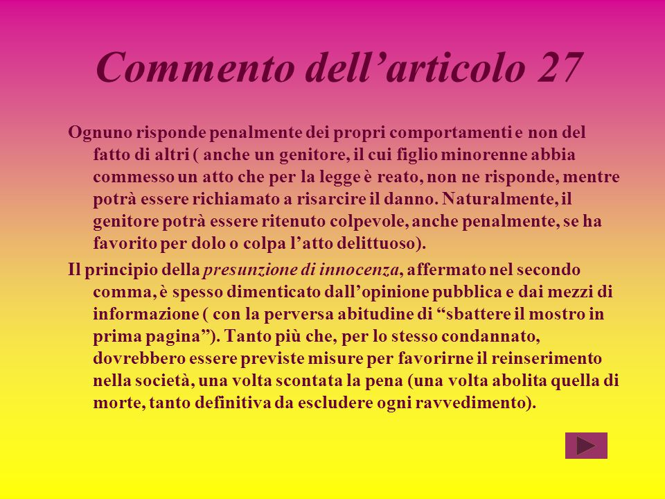 Commento dell'articolo 27