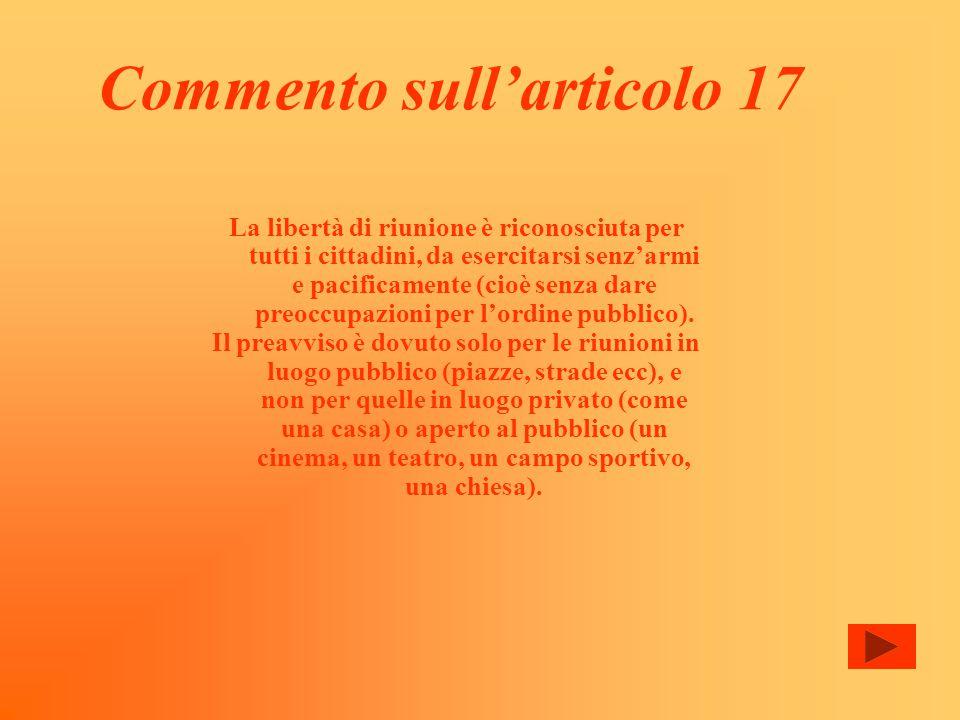 Commento sull'articolo 17