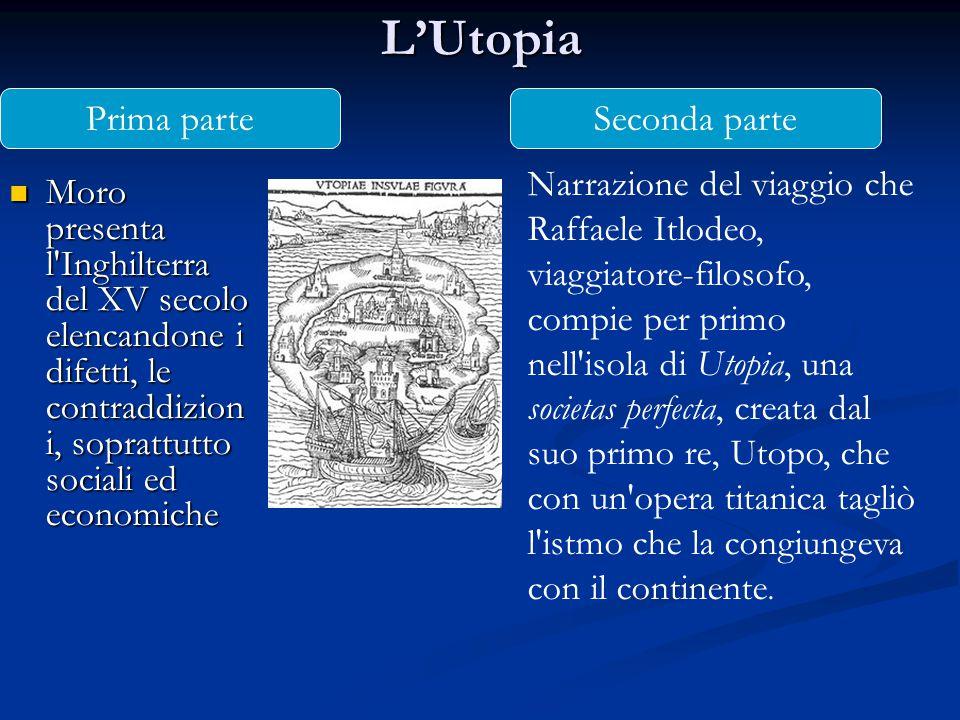 L'Utopia Prima parte Seconda parte