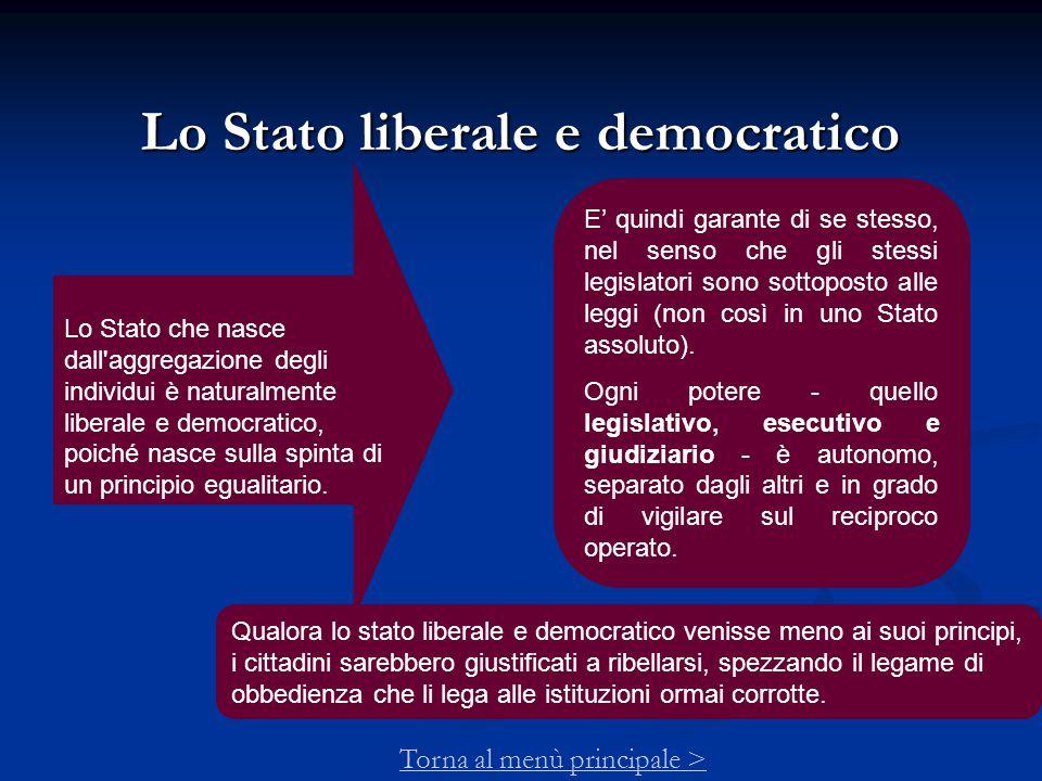 Lo Stato liberale e democratico