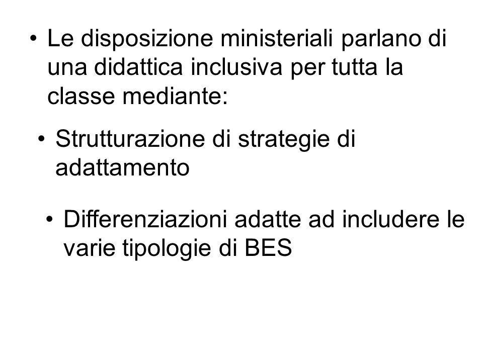 Le disposizione ministeriali parlano di una didattica inclusiva per tutta la classe mediante:
