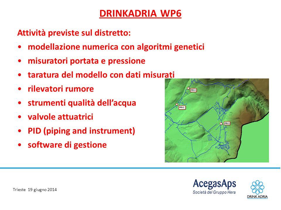 DRINKADRIA WP6 Attività previste sul distretto: