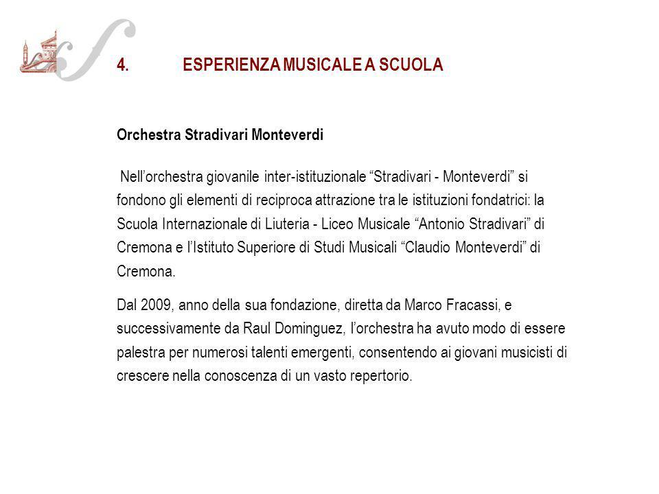4. ESPERIENZA MUSICALE A SCUOLA