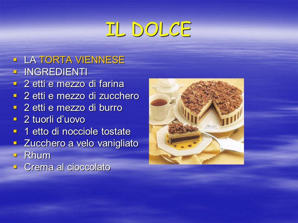 IL DOLCE LA TORTA VIENNESE INGREDIENTI 2 etti e mezzo di farina
