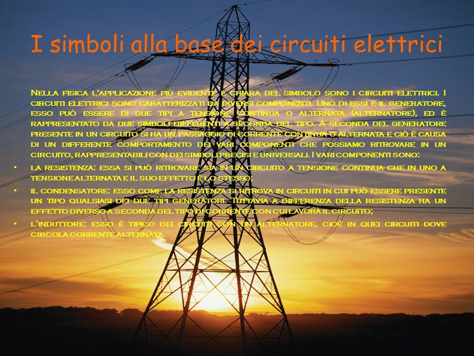 I simboli alla base dei circuiti elettrici