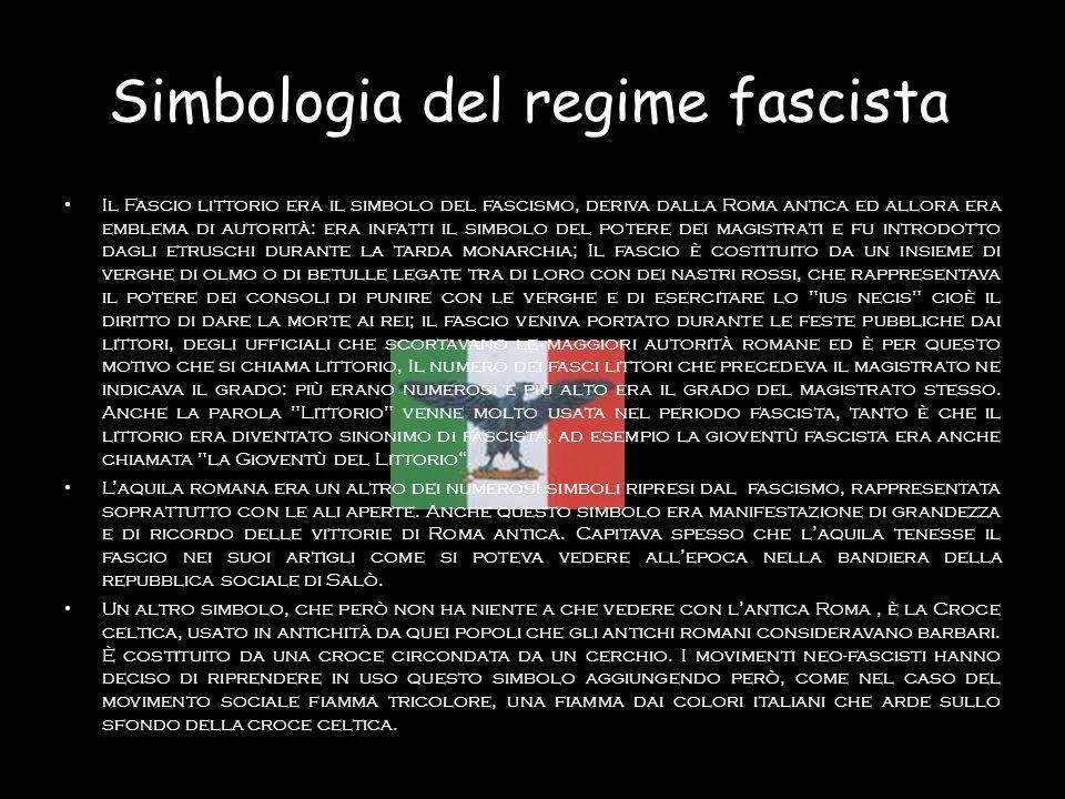 Simbologia del regime fascista