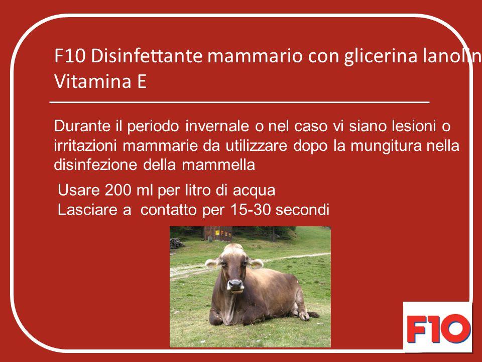 F10 Disinfettante mammario con glicerina lanolina e Vitamina E