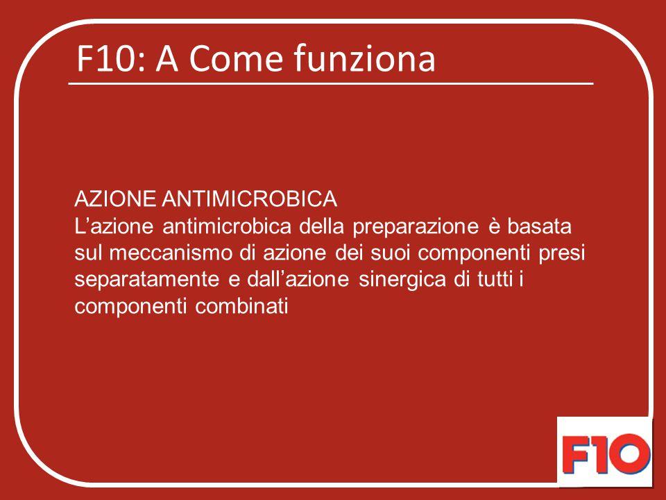F10: A Come funziona AZIONE ANTIMICROBICA